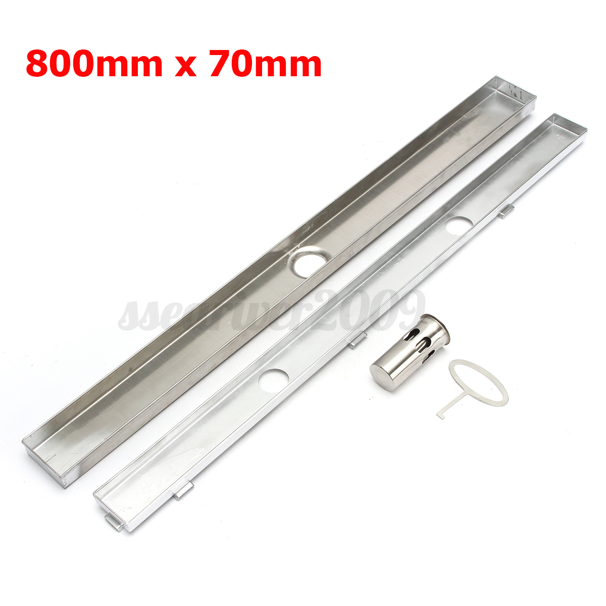 600-1000MM Invisible Tile Insert Shower Grate Drain Waste Floor Linear Bathroom