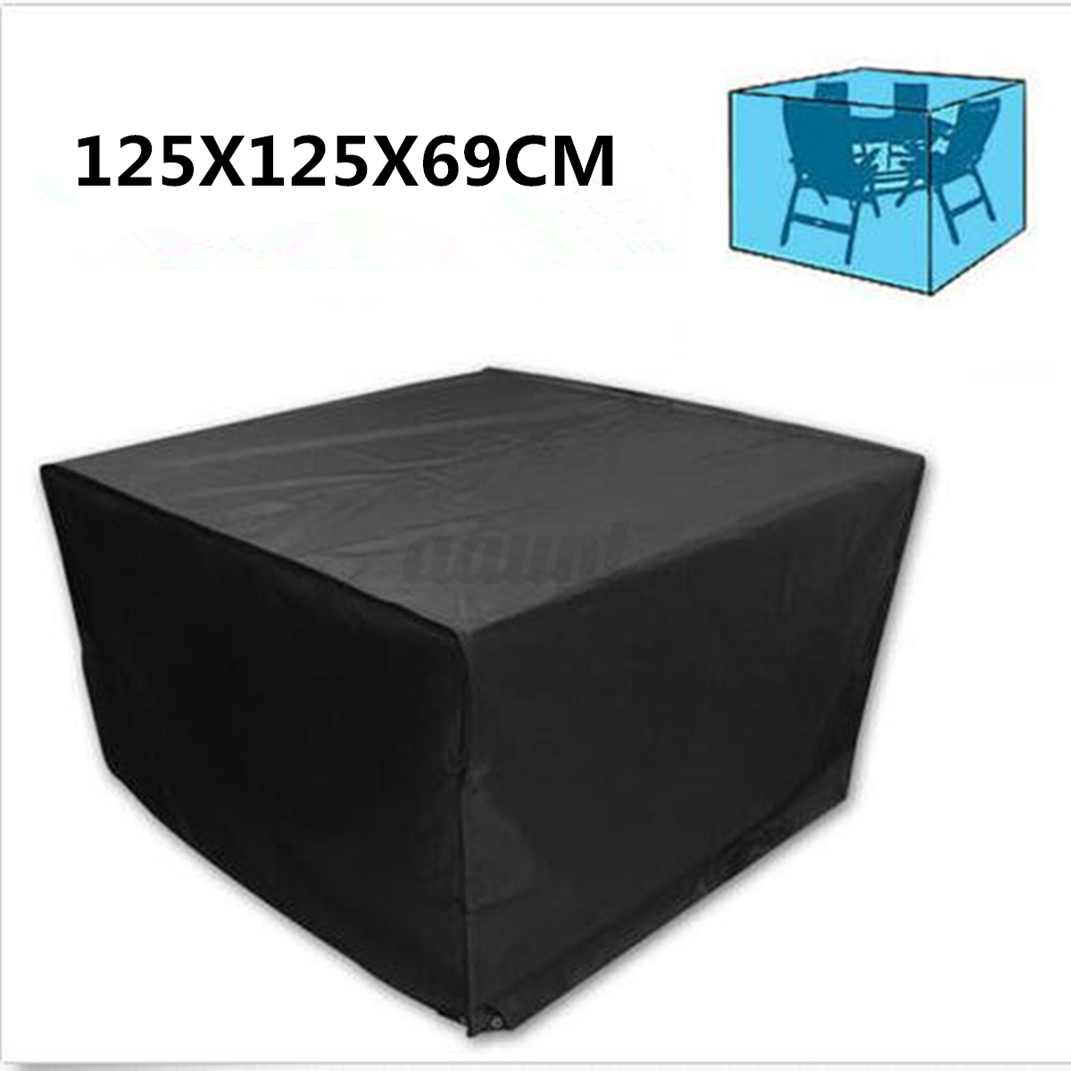 Waterproof Heavy Duty Rattan Cube Cover Outdoor Garden Furniture Rain Protection Ebay