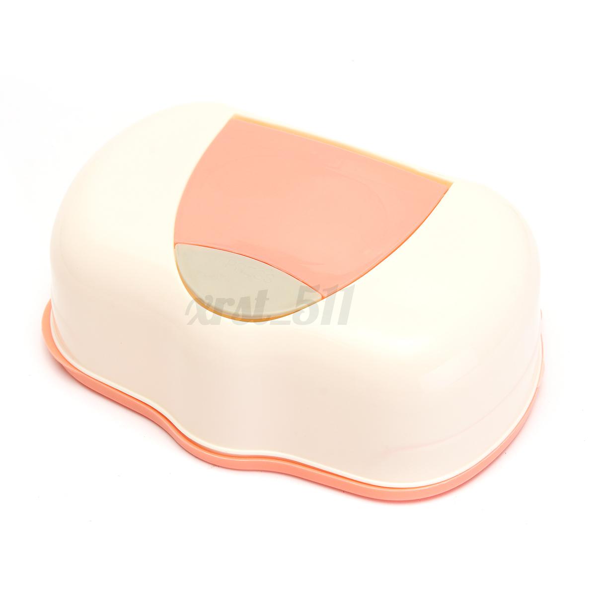 Boite-a-Mouchoirs-Tissu-Papier-avec-Bouton-pour-80-Lingettes-Humides-Maison-Bebe