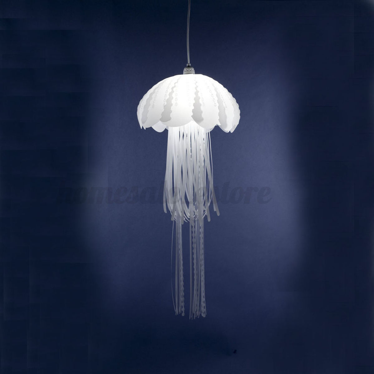 Glow ethereal jellyfish lampshade ceiling chandelier light pendant hanging lamp ebay - Chandelier ceiling lamp ...