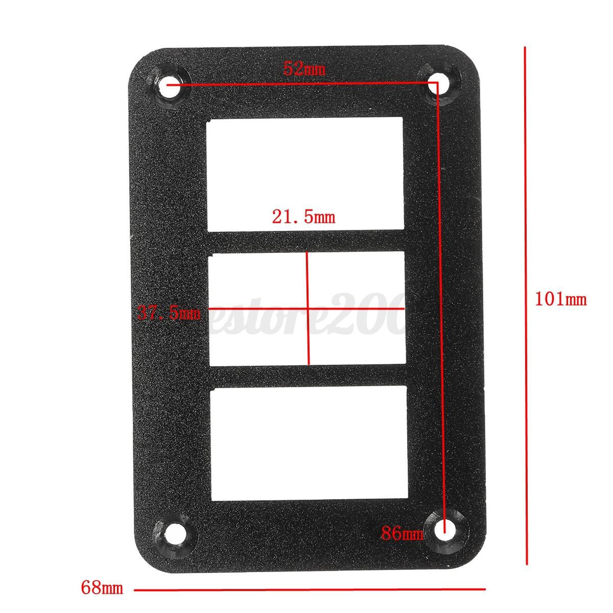 Car Boat 3 Way Aluminum Rocker Switch Panel Housing Holder FOR ARB