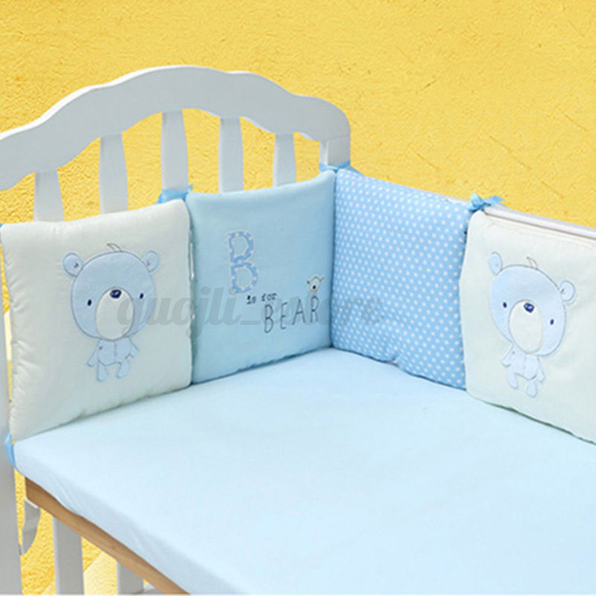 6pcs Baby Infant Cot Crib Bumper Safety Protector Toddler