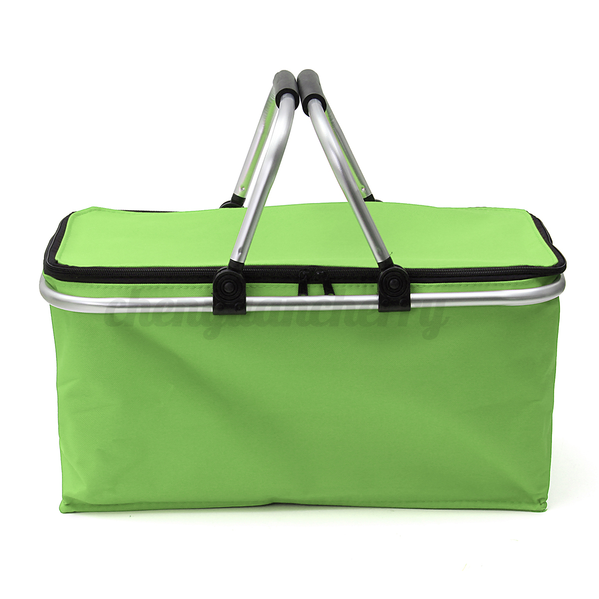 Insulated Carrying Bag : Insulated l zip up picnic lunch basket cooler outdoor