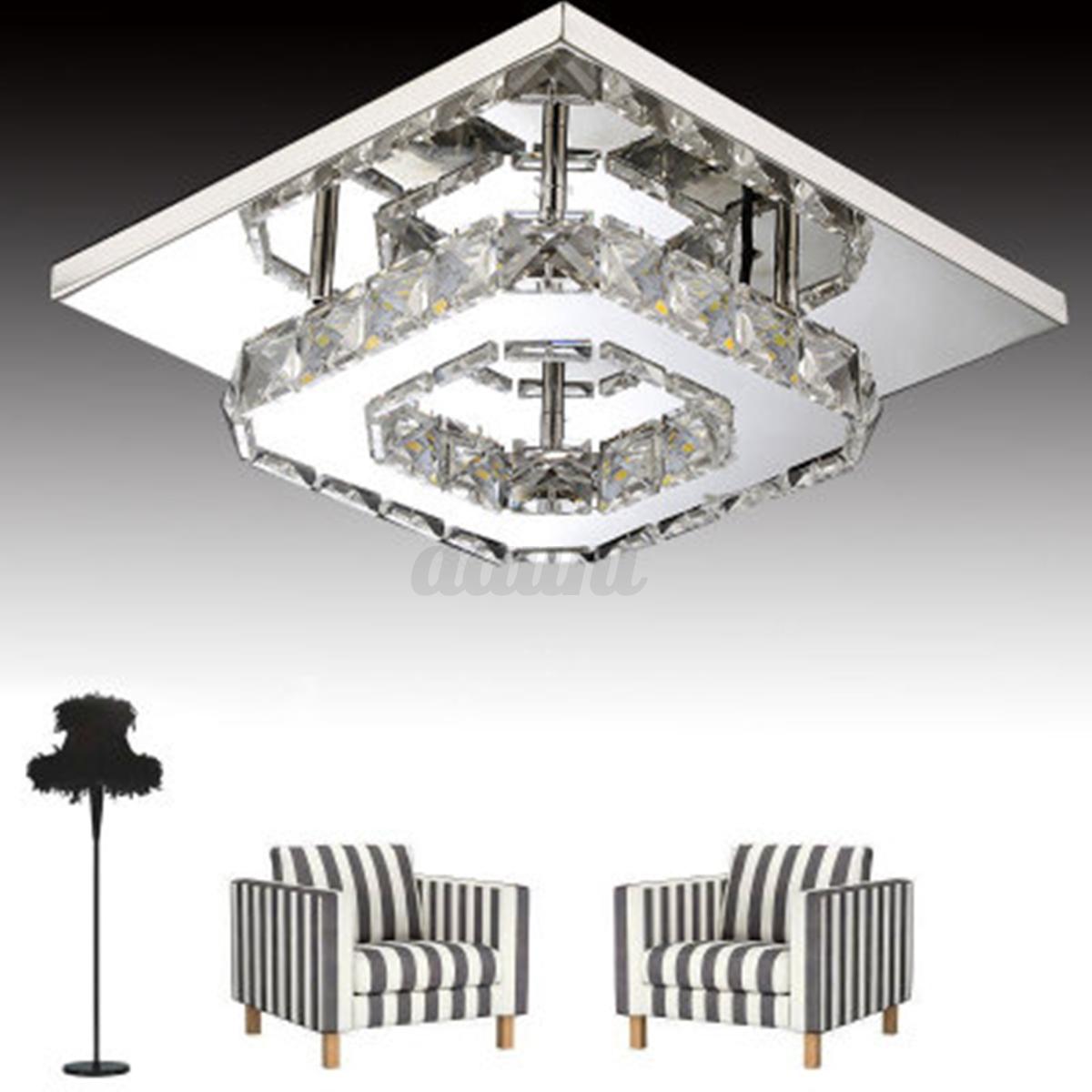 modern crystal pendant light ceiling lamp chandelier living dining room lighting ebay. Black Bedroom Furniture Sets. Home Design Ideas