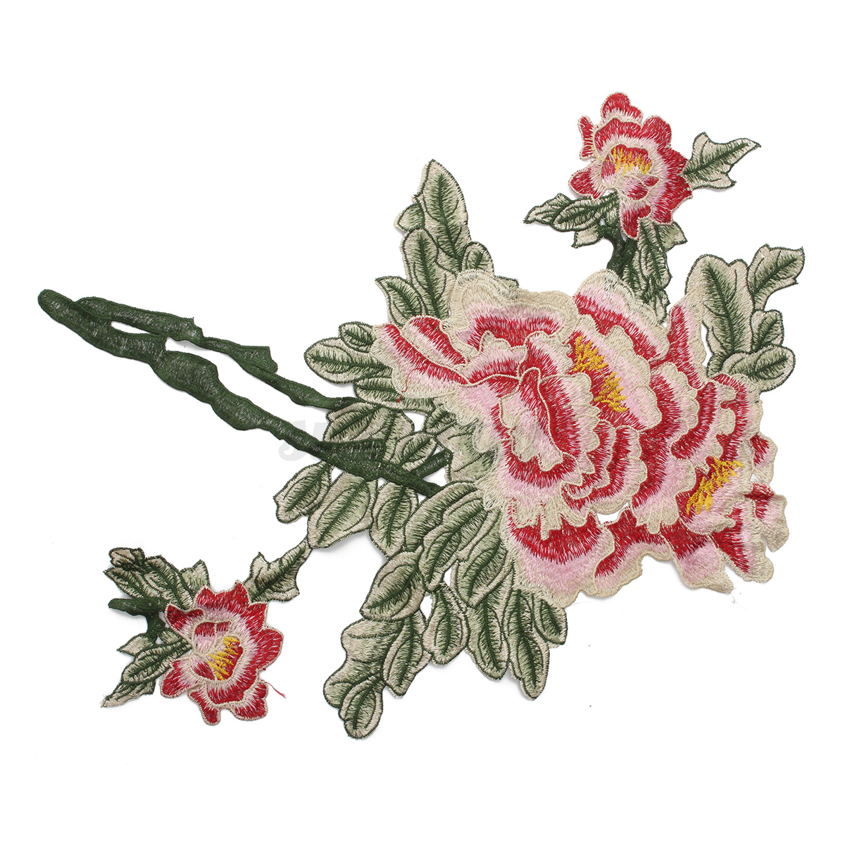 grande broderie applique fleurs patchs insigne floral col coudre v tements robe ebay. Black Bedroom Furniture Sets. Home Design Ideas