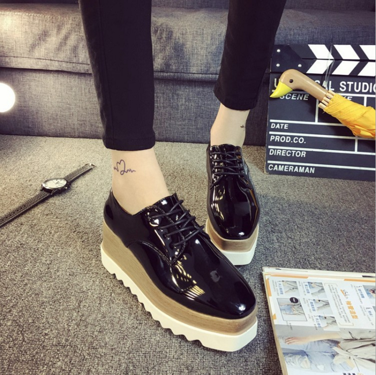 2019-Womens-Creepers-Platform-Lace-Up-Wedge-Oxfords-Chunky-Heels-Brogue-Shoes thumbnail 15