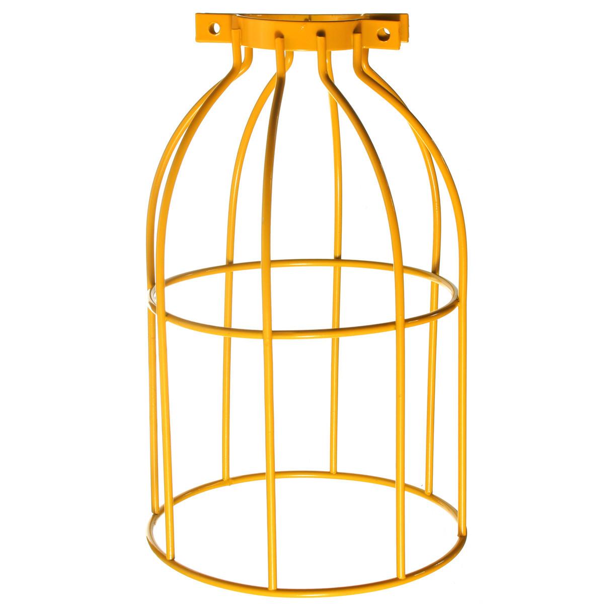 Vintage-E27-Ampoule-Abat-jour-Garde-Metal-Pendant-Lampe-Cage-Plafond-Decoration
