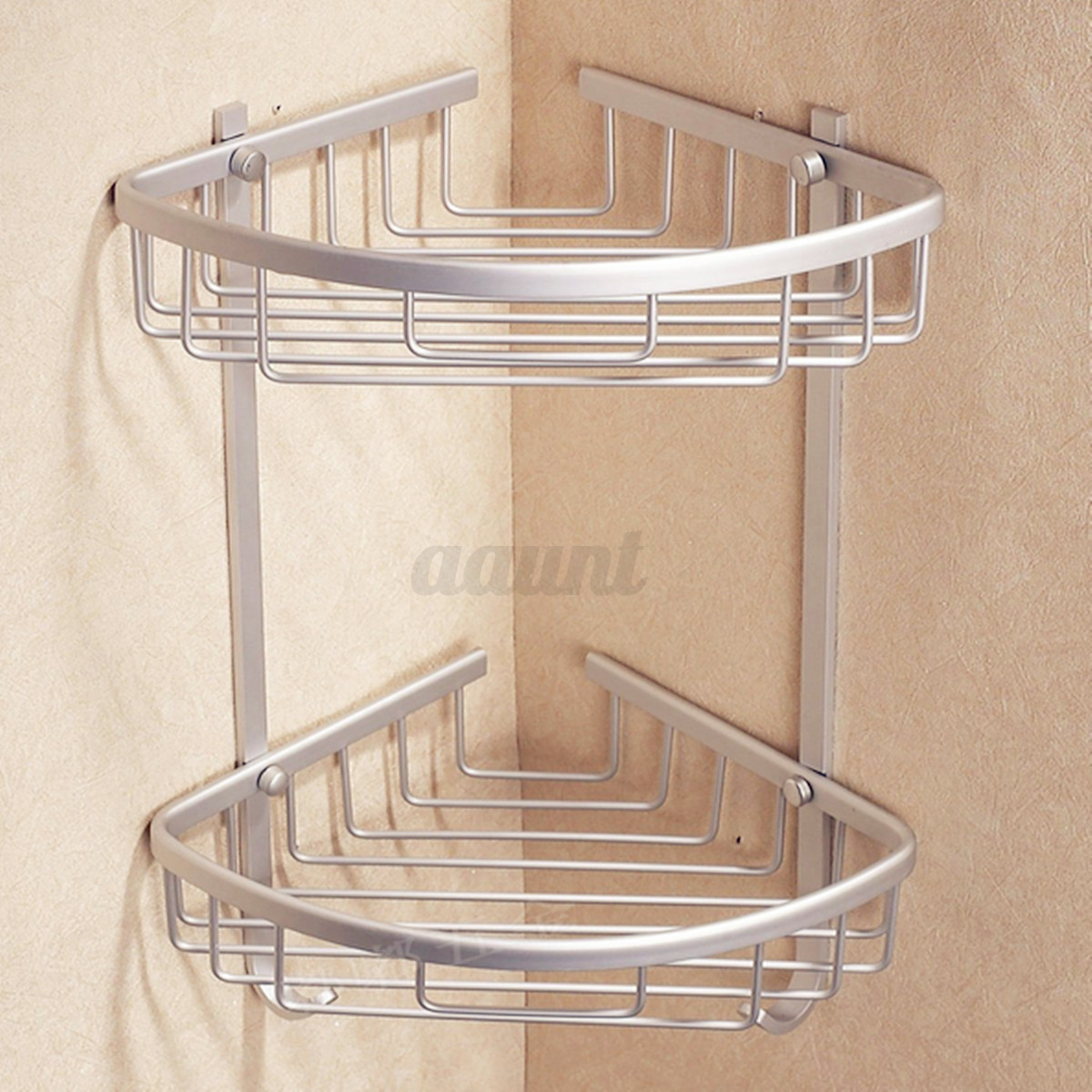 3 layer triangular shower shelf bathroom corner bath rack. Black Bedroom Furniture Sets. Home Design Ideas