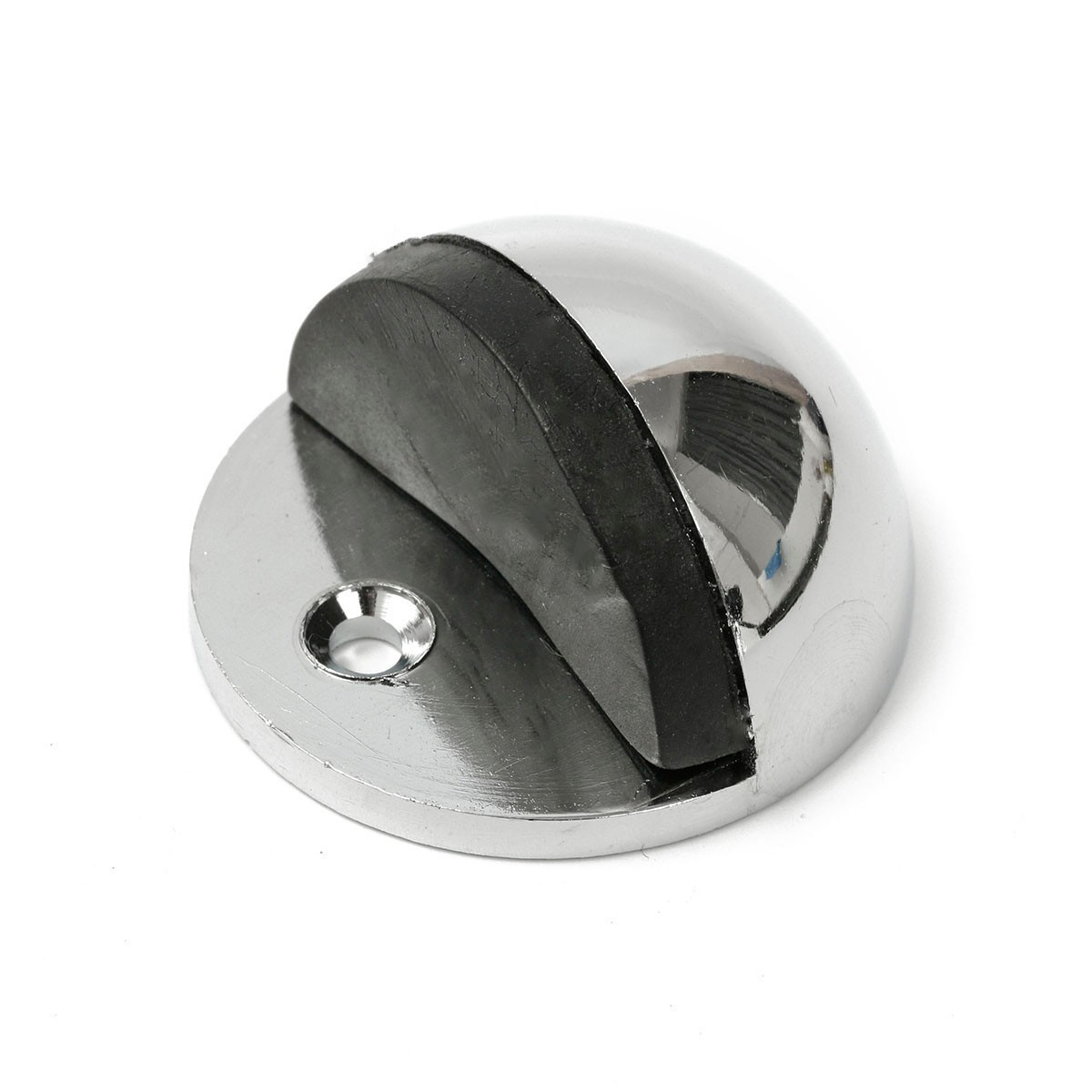 Metal oval door stop door stopper floor doorstop rubber interior holder home ebay - Door stoppers rubber ...