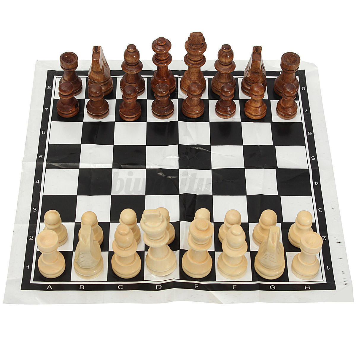 32tlg schachfiguren schach schachspiel holz chess board. Black Bedroom Furniture Sets. Home Design Ideas