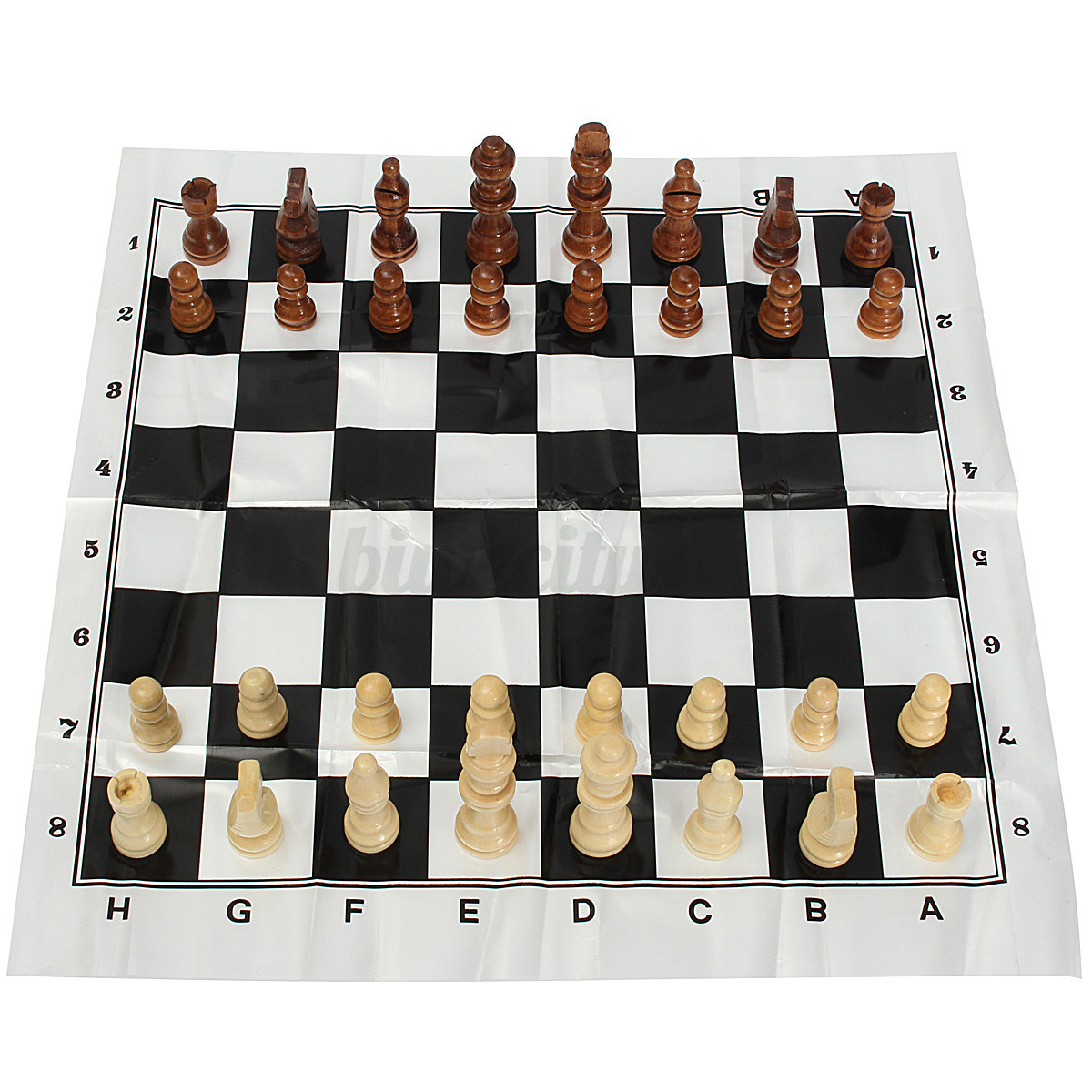32tlg schachfiguren schach schachspiel holz chess board. Black Bedroom Furniture Sets. Home Design Ideas