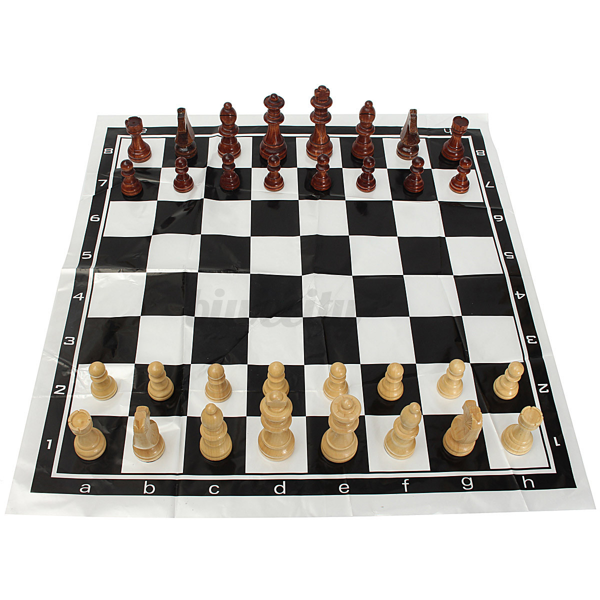32tlg schachfiguren schach schachspiel holz chess board f r kinder 60 65 77 90mm ebay. Black Bedroom Furniture Sets. Home Design Ideas