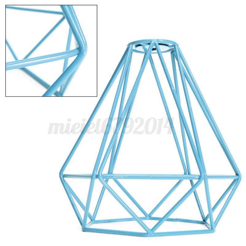 Modern Vintage Lampshade Industrial Ceiling Light Metal Frame Cage ...