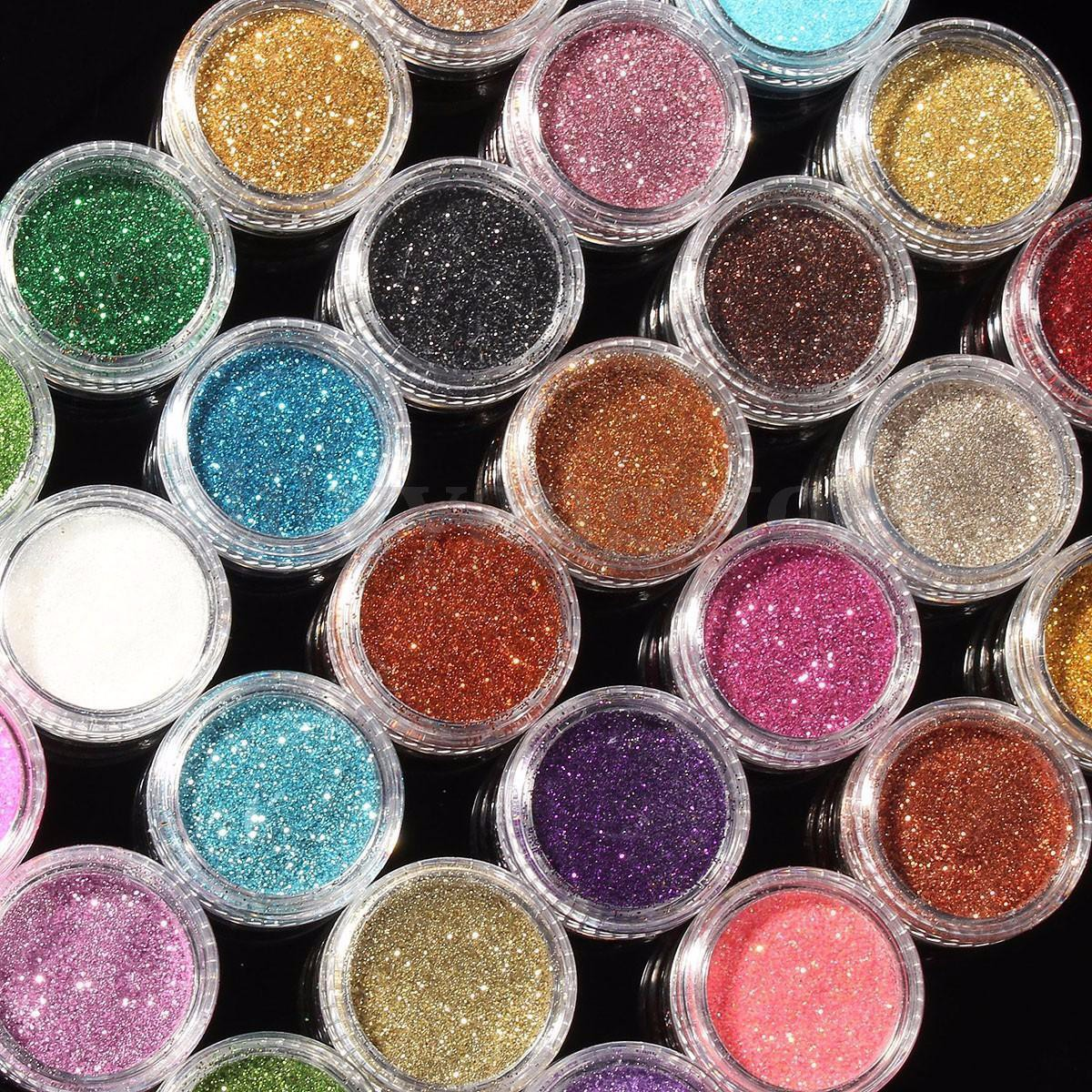 24 Loose Glitter Eyeshadow Eye shadow Face Body Painting Paint Craft ...