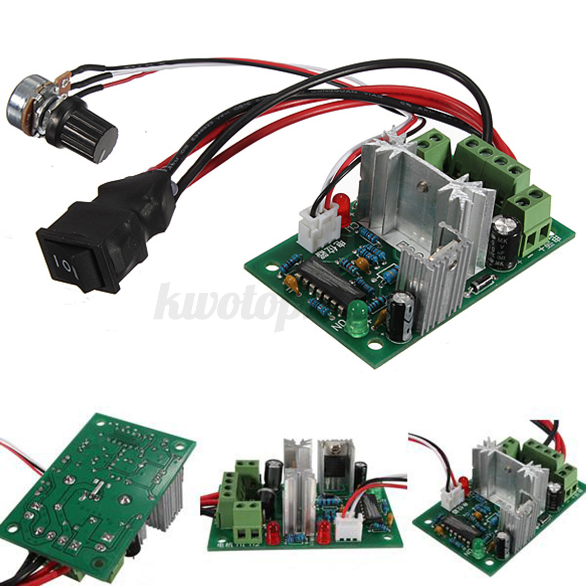 Dc motor speed switch controller 10v 12v 24v control for Two speed motor control