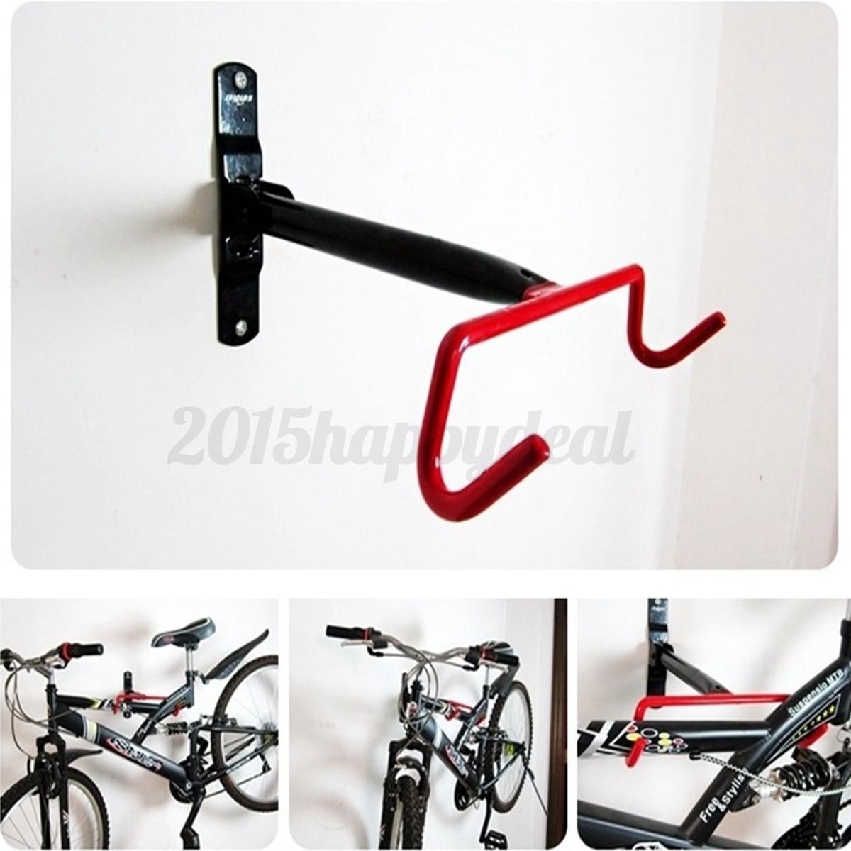 garage wall mounted bike bicycle cycle storage rack hook holder hanger screws picclick uk. Black Bedroom Furniture Sets. Home Design Ideas