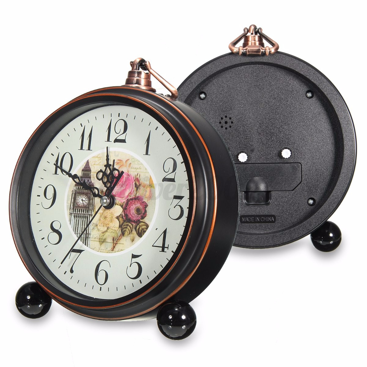 bedroom alarm clock vintage silent bedroom bell table bedside 10273