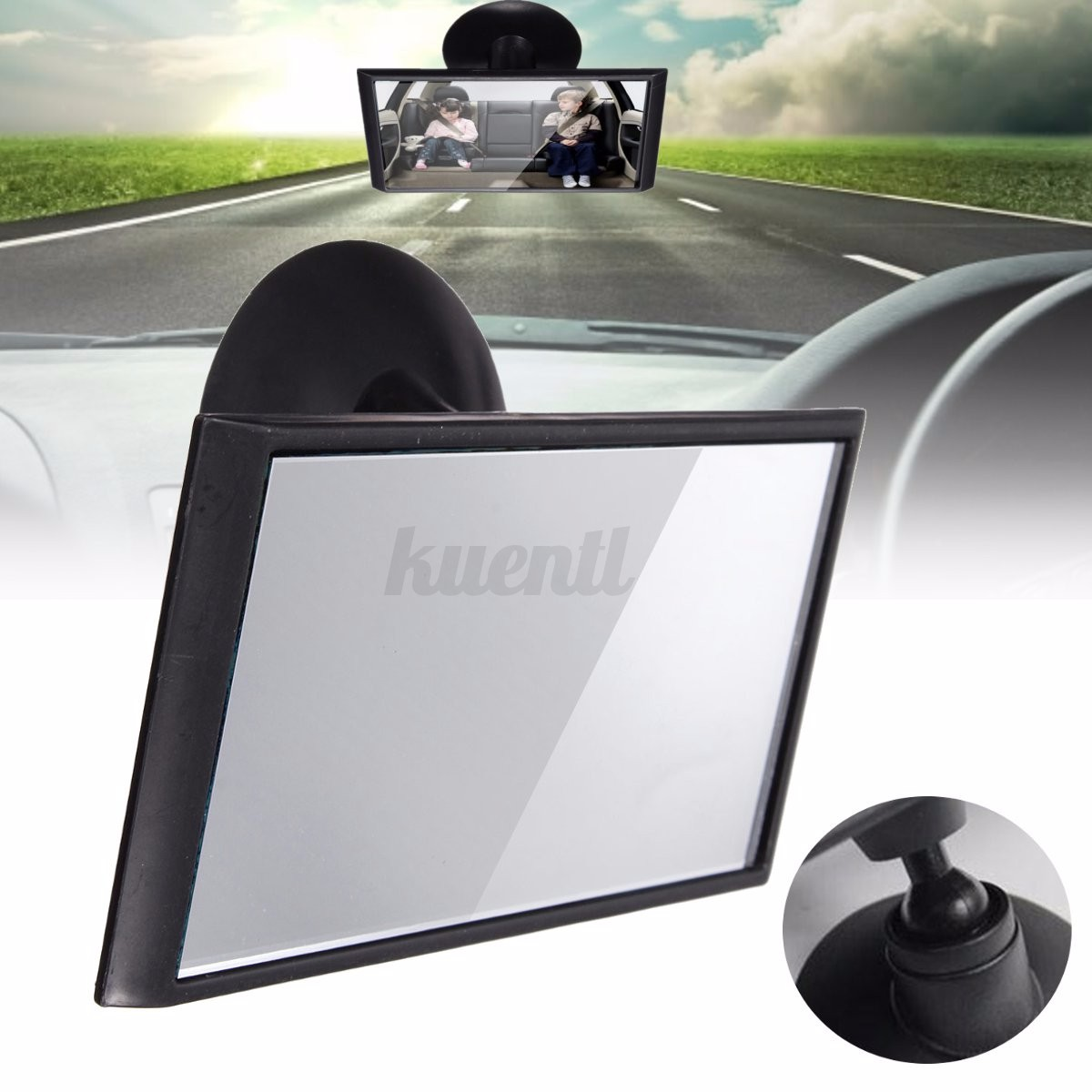 universal car interior adjustable blind spot rearview mirror windscreen suction ebay. Black Bedroom Furniture Sets. Home Design Ideas