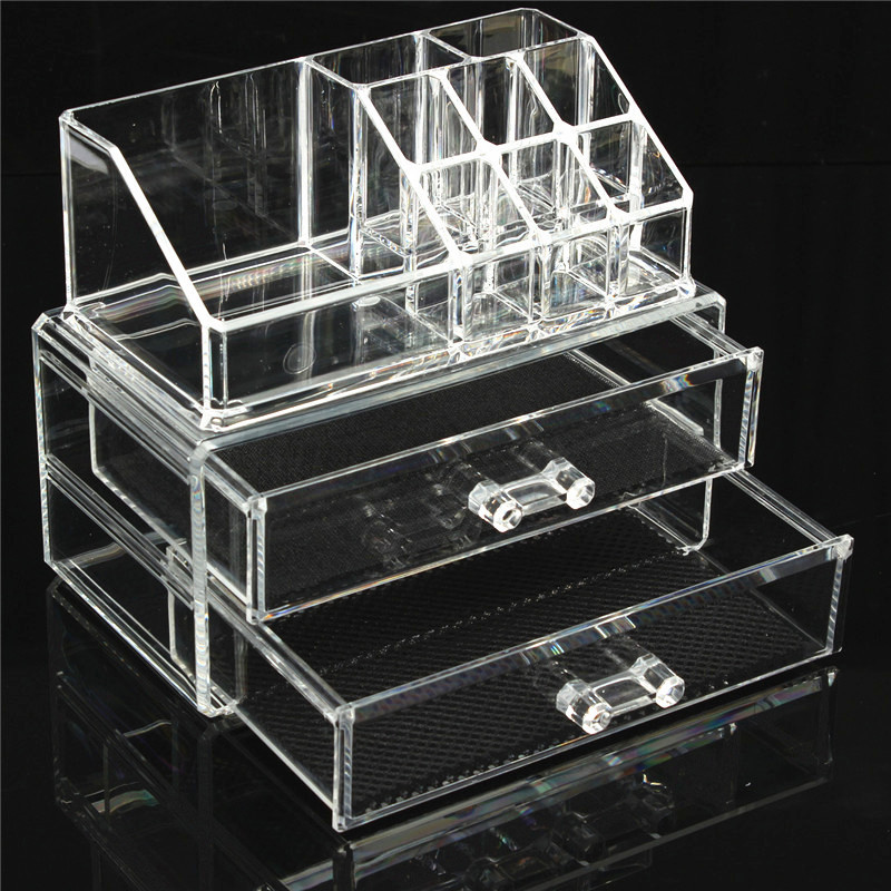 acryl kosmetik organizer kosmetikbox schubladen makeup aufbewahrung schubladen ebay. Black Bedroom Furniture Sets. Home Design Ideas