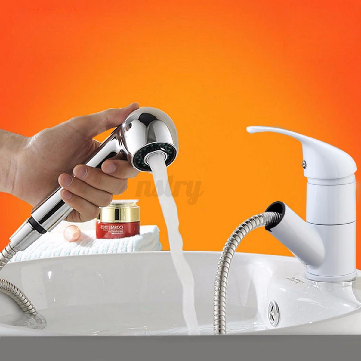 Modern Luxury Mixer Tap Faucet Brass Pull Out Spray Kitchen Bathroom Basin Sink Ebay