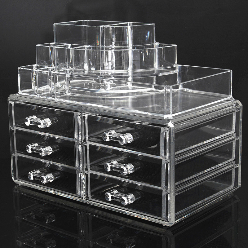acryl kosmetik organizer make up aufbewahrung st nd pr sentation ordnungsst nde ebay. Black Bedroom Furniture Sets. Home Design Ideas