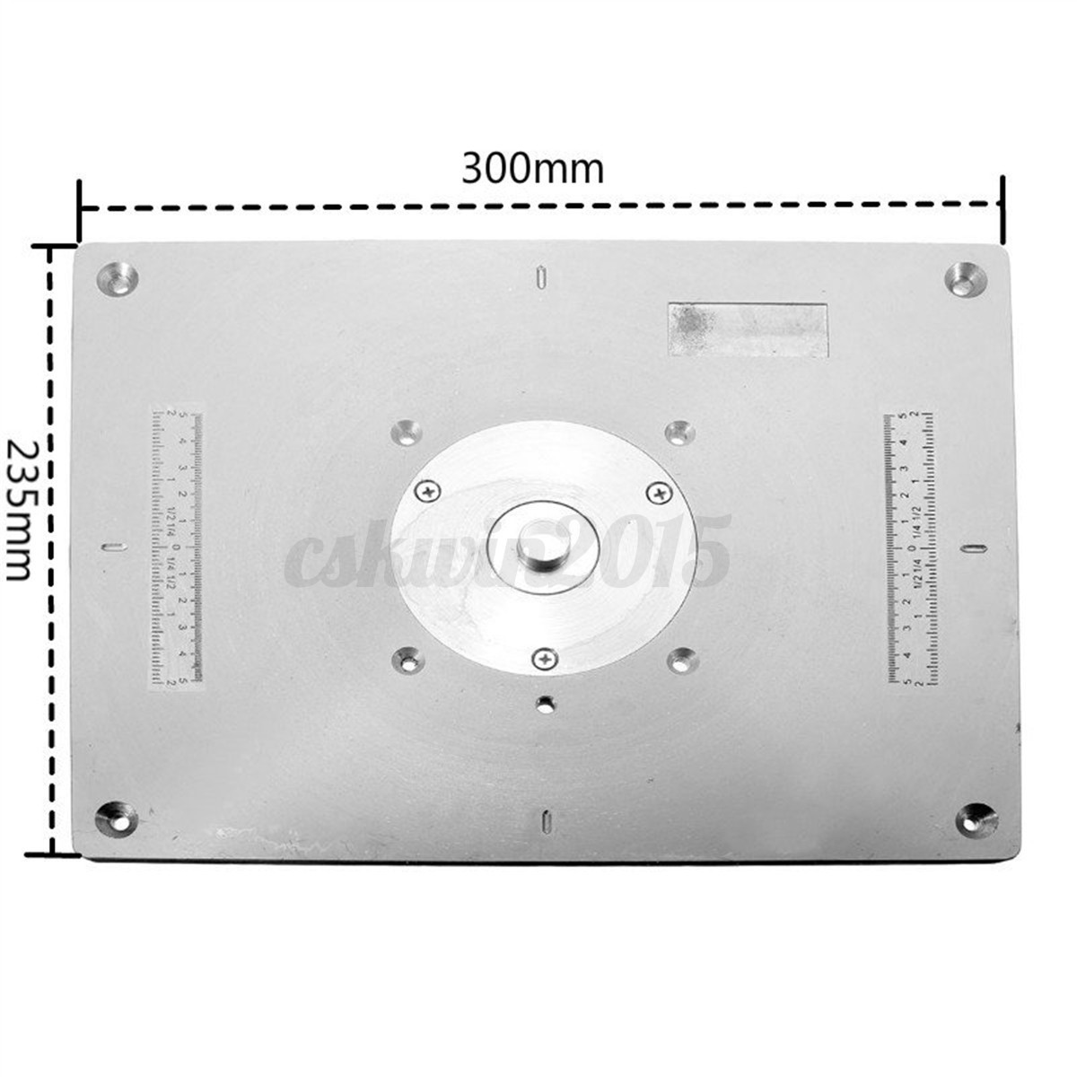 Aluminum router table insert plate 235x300x8mm for woodworking detail image greentooth Images