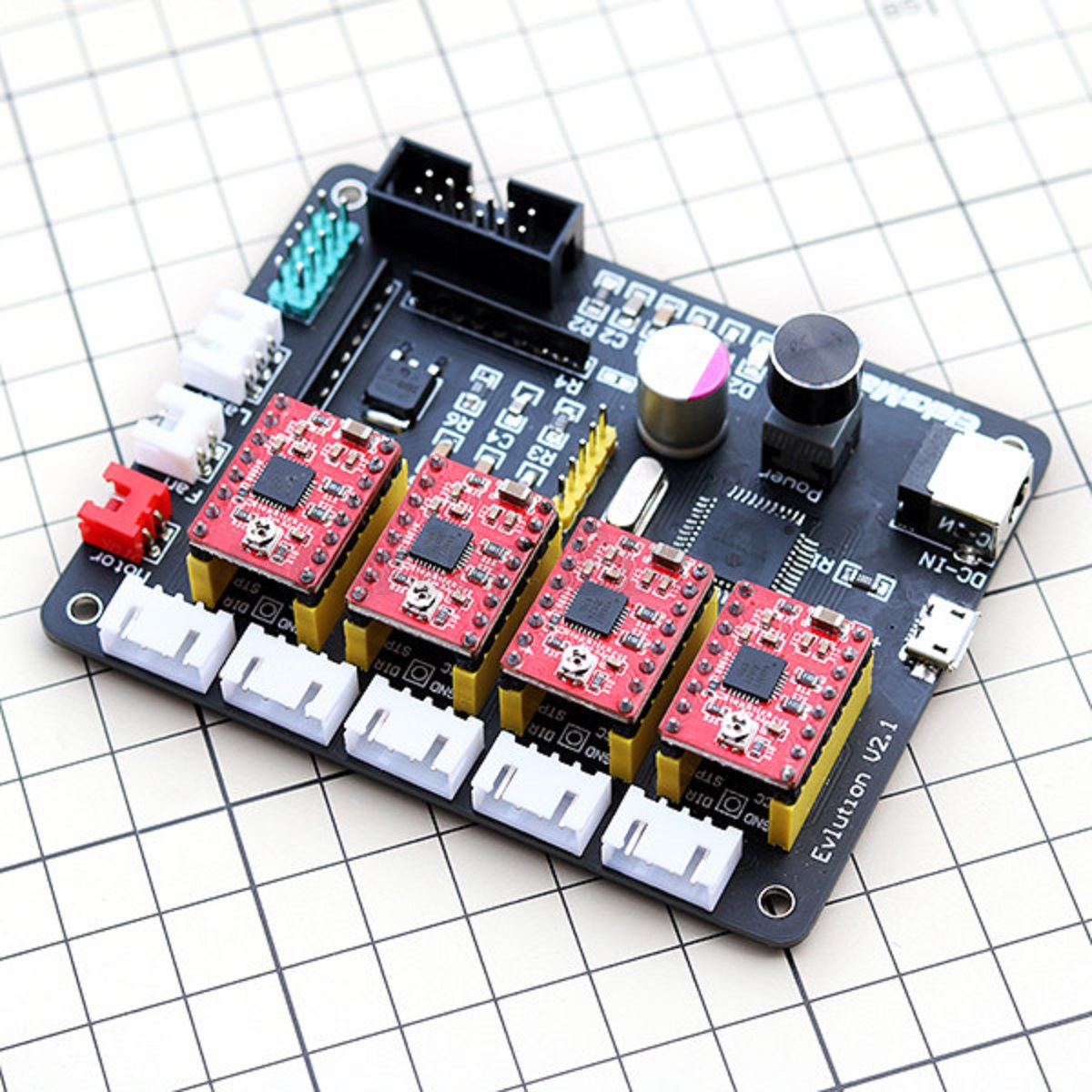 4 axis usb cnc stepper motor control board driver 12v for Stepping motors and their microprocessor controls
