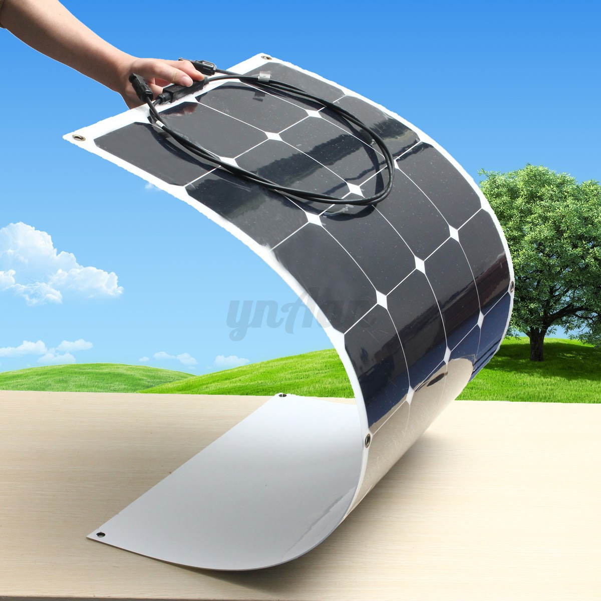 100w 200w 300w 400w 500w 1kw semi flexible solarpanel solarmodul wohnmobil ebay. Black Bedroom Furniture Sets. Home Design Ideas