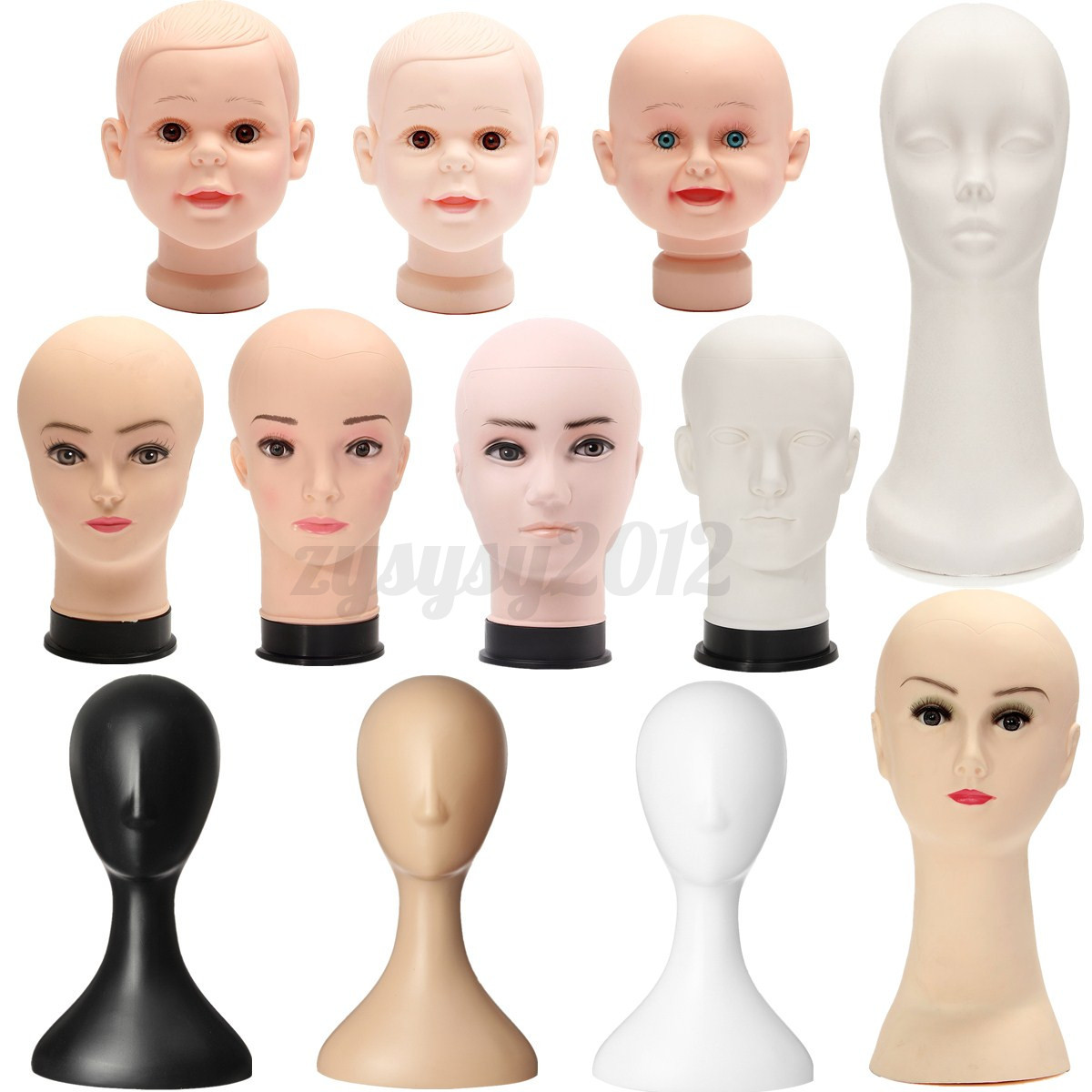 femme homme t te de pr sentoir perruque chapeau socle mannequin mod le plastique ebay. Black Bedroom Furniture Sets. Home Design Ideas