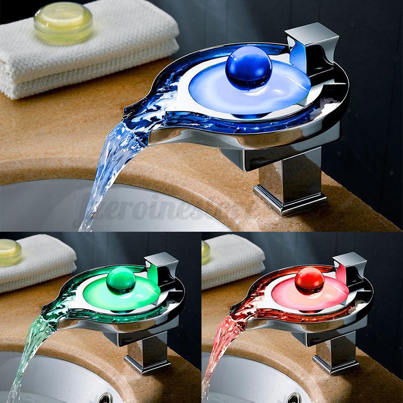 Auralum grifo de lavabo grifo moderno cascada ba o led rgb Grifos de bano modernos