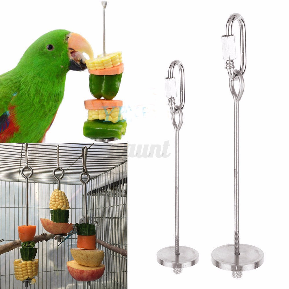 Pet Bird Toys : Stainless steel pet bird parrot foraging cage pigeon macaw