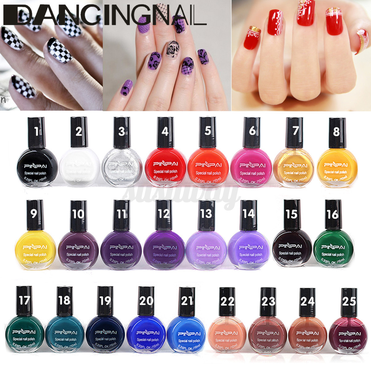 10ml Nail Art Manicure Stencil Stamp Template Stamping Polish ...