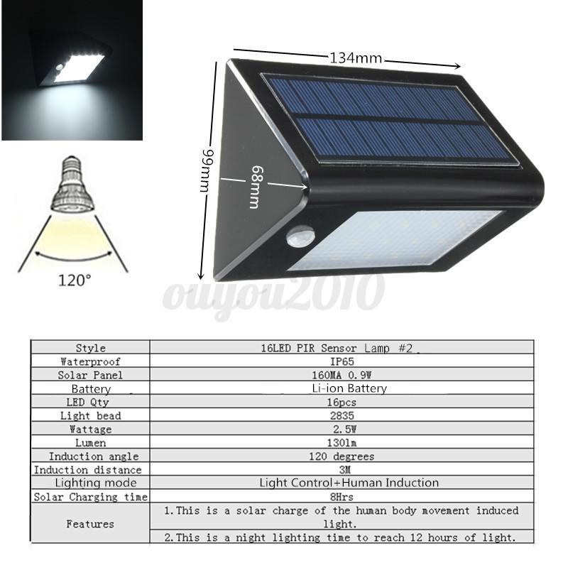 2 46 led solar wandleuchte wandlampe garten strahler sensorlicht bewegungsmelder ebay. Black Bedroom Furniture Sets. Home Design Ideas