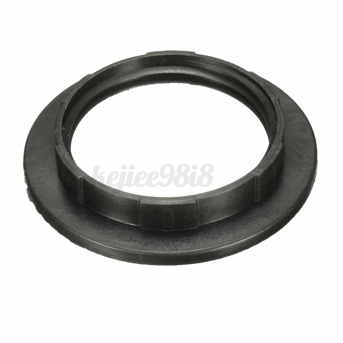 Black White E27 Screw Lampshade Light Shade Collar Ring