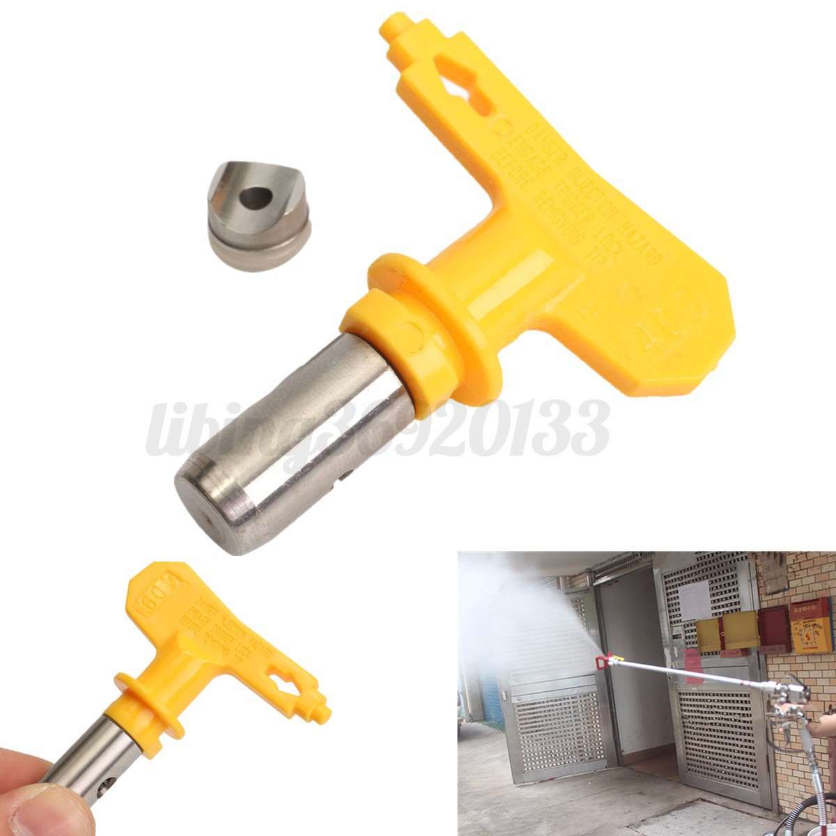 airless buse pulv risation pistolet peinture spray gun pour graco titan wagner ebay. Black Bedroom Furniture Sets. Home Design Ideas