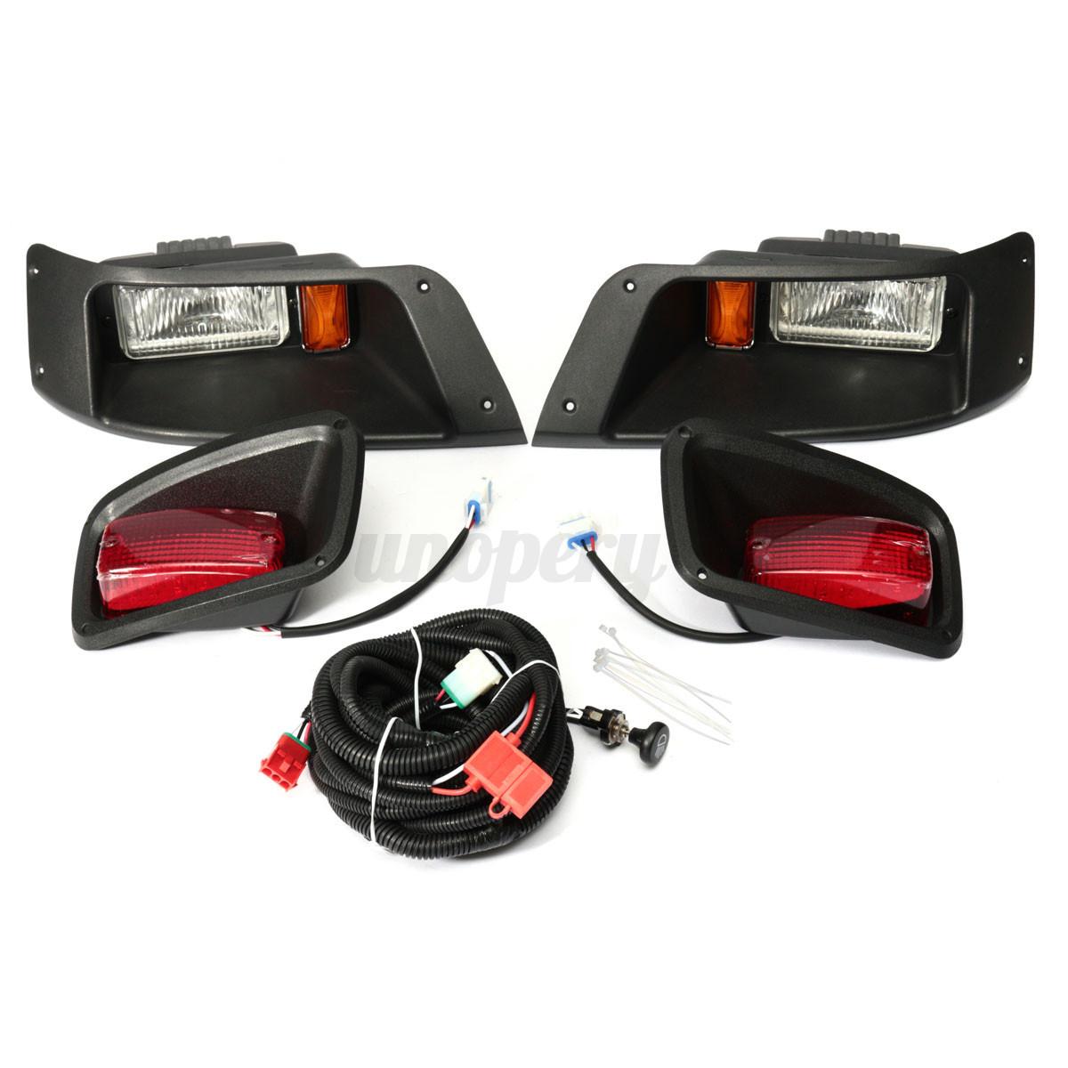 Halogen Headlight With Led Tail Light Lamp Kit For Ezgo