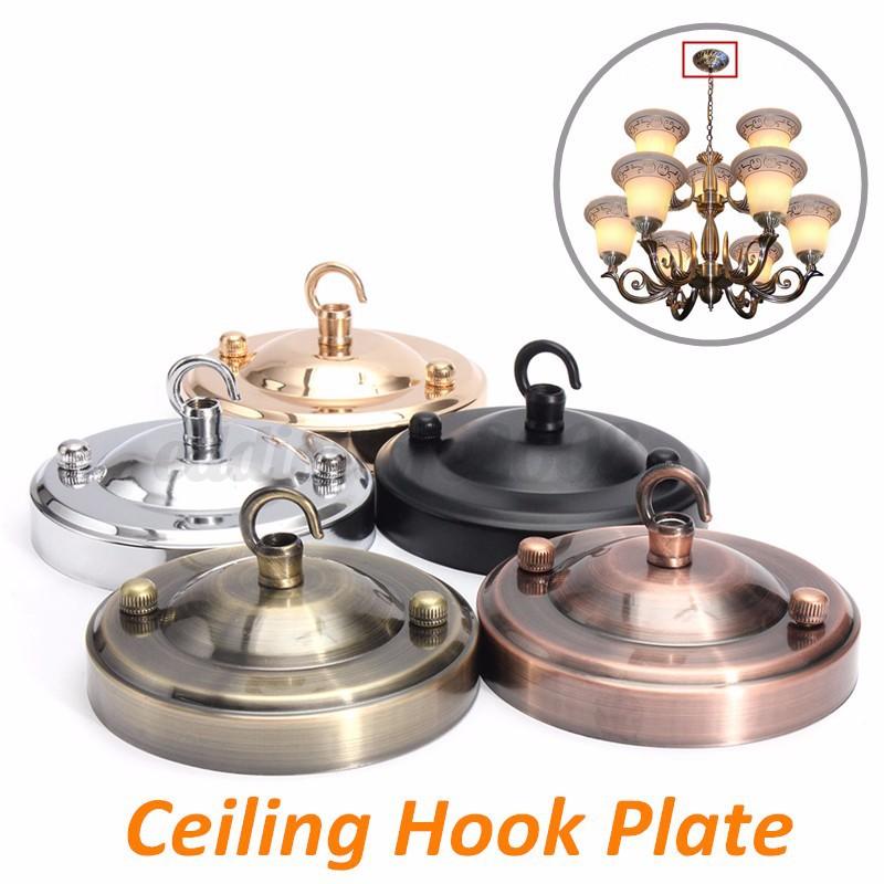 Retro Vintage Ceiling Rose Hook Plate Pendant Chandelier