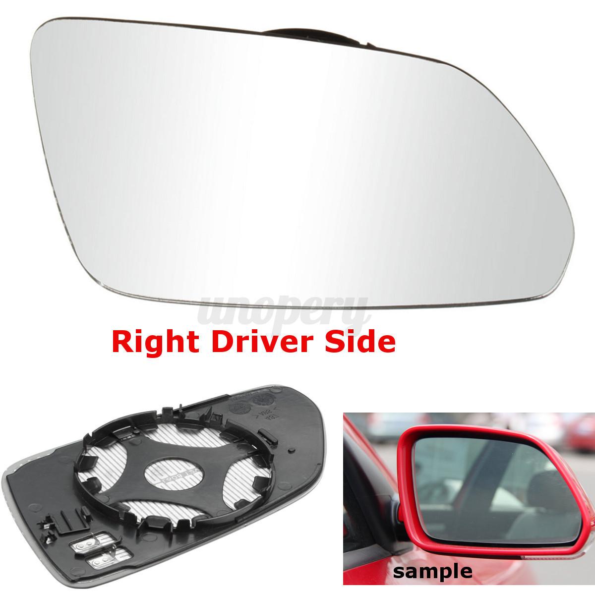 Driver Side Wing Mirror Glass For Skoda Octavia Mk