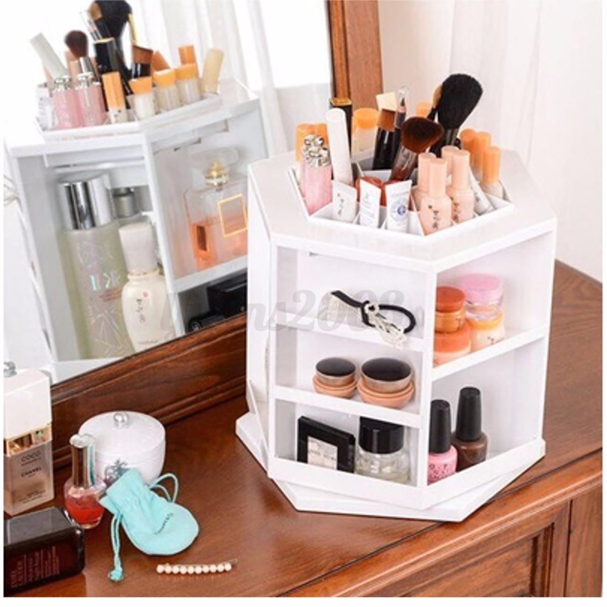 acrylique bo te pr sentoir de maquillage rangement rond organisateur cosm tique eur 15 59. Black Bedroom Furniture Sets. Home Design Ideas