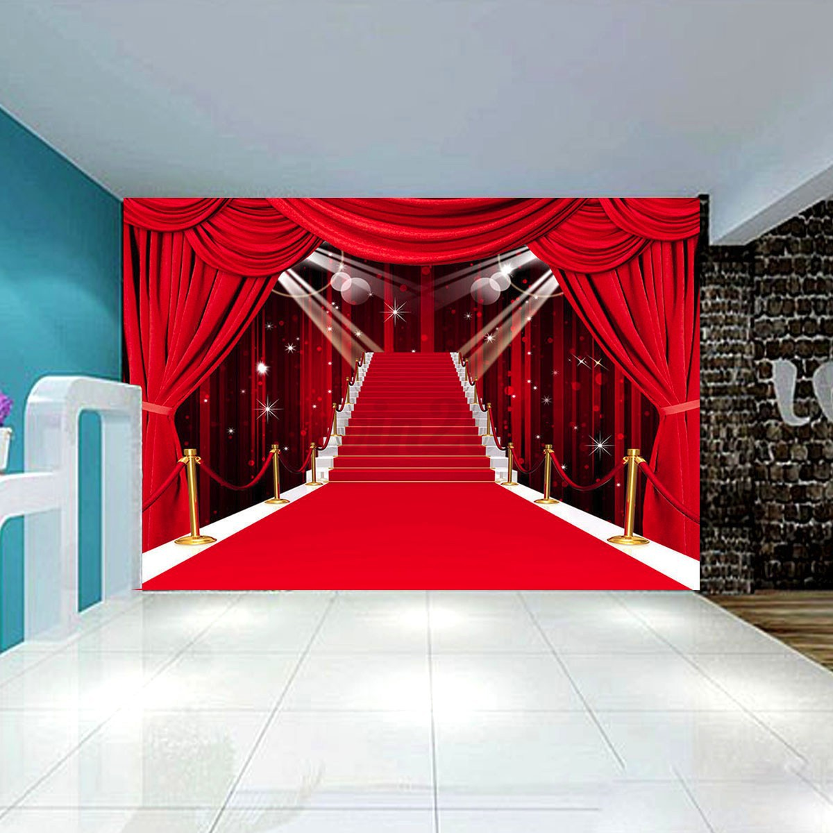7x5ft stage aisle red carpet photography backdrop studio props photo background ebay - Red carpet photographers ...