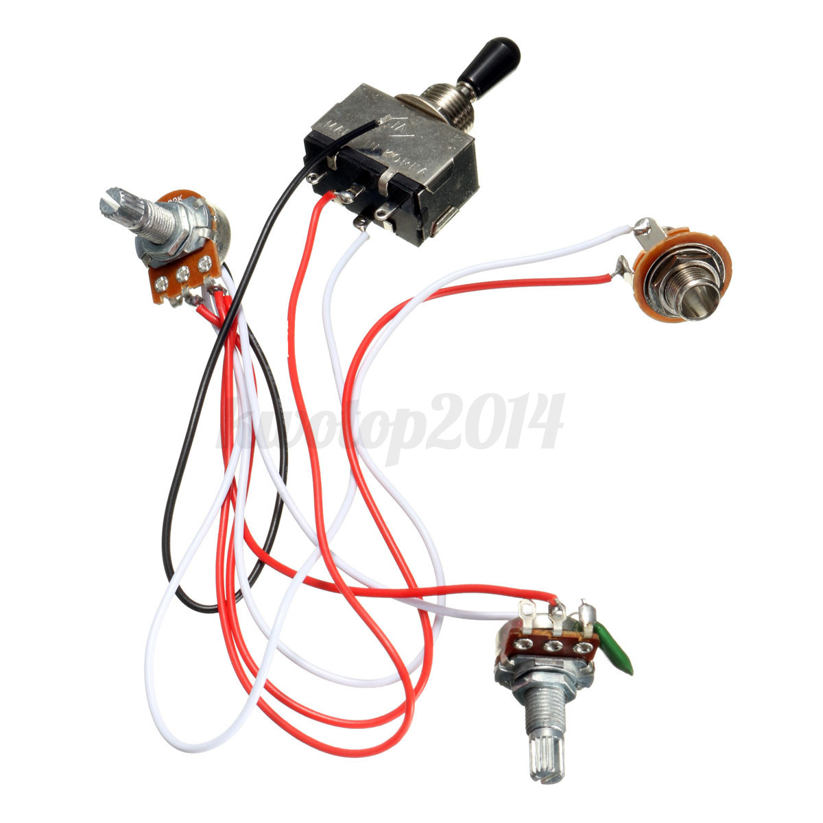 Electric Guitar Wiring Harness Kit    3       Way       Toggle       Switch    1 Volume 1 Tone 500K Pot   eBay
