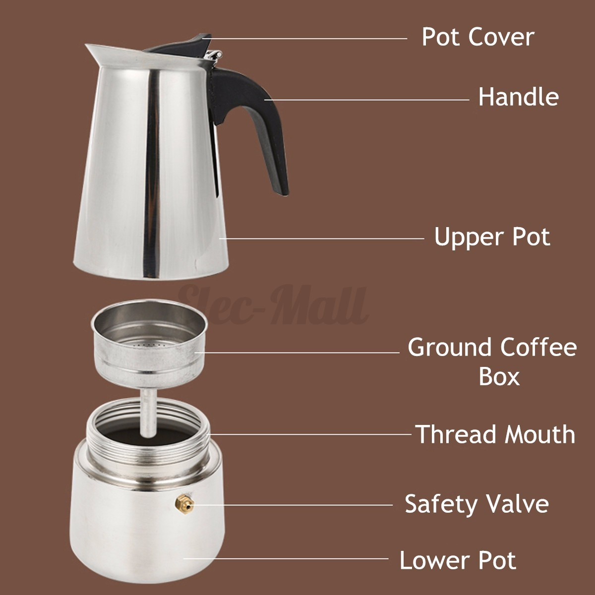 Italian Coffee Maker Stuck : Steel Italian Moka Espresso Coffee Maker Percolator Stove Top Pot 2-6 Cups eBay