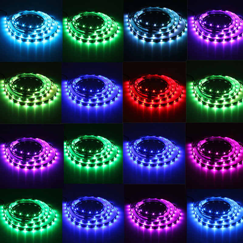 4x rgb led strip 5050 smd ir fernbedienung tv hintergrund beleuchtung aquarium ebay. Black Bedroom Furniture Sets. Home Design Ideas