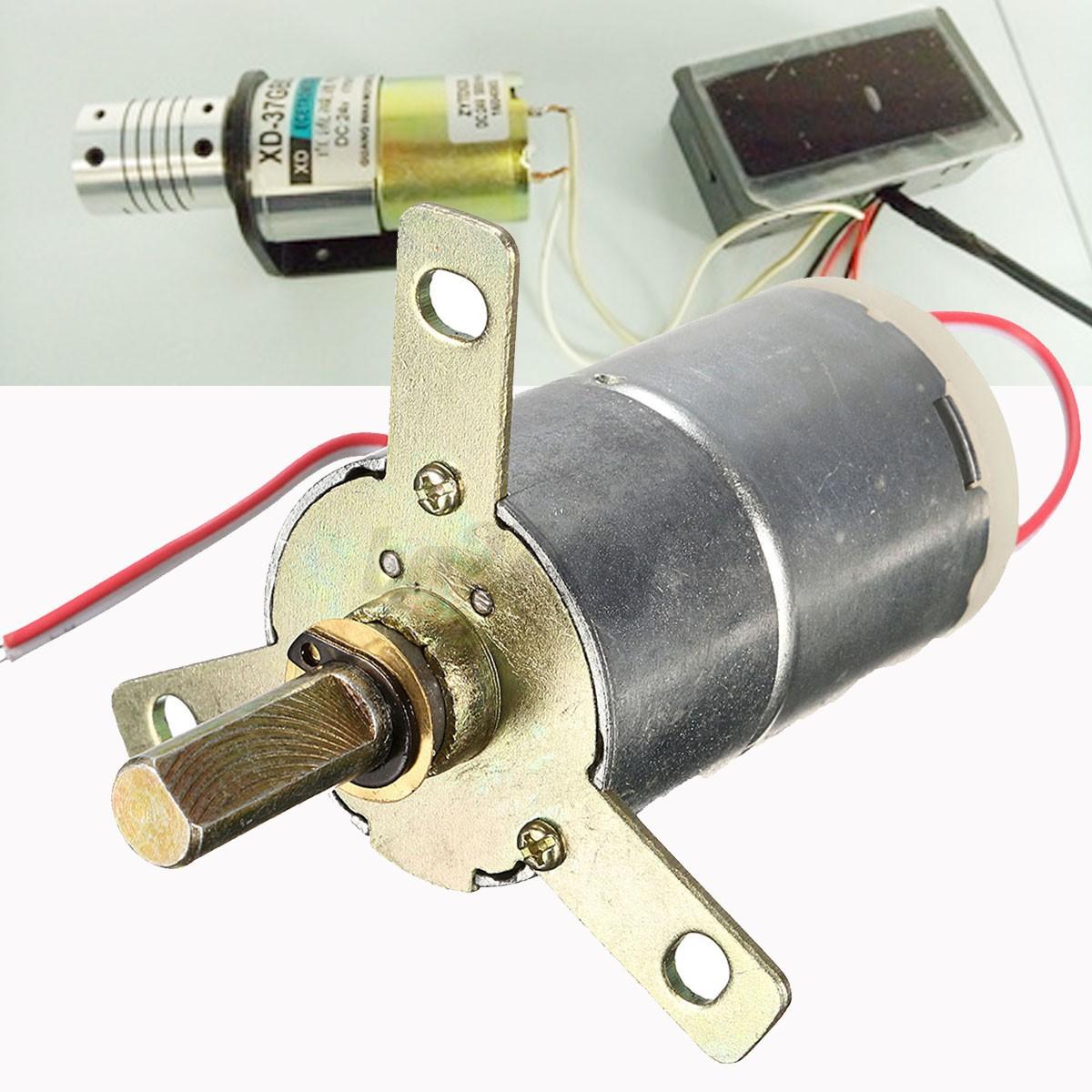 1pc high torque 12v dc 25 rpm gear box stabilivolt for Dc motor high torque