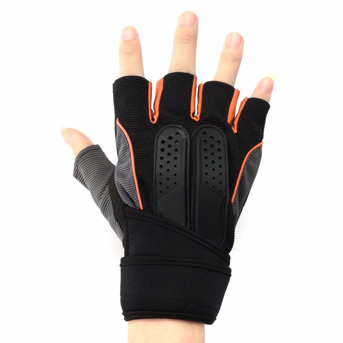 Sport Gloves For Gym: L Men Lifting Half Gloves Gym Fitness Sport Workout