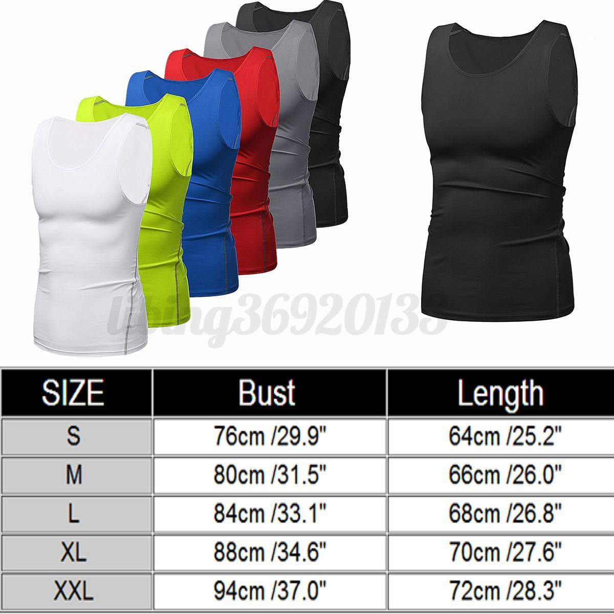 Uomo-Compressione-Camicia-termica-layer-Maglia-canotta-maniche-corte-Fitness