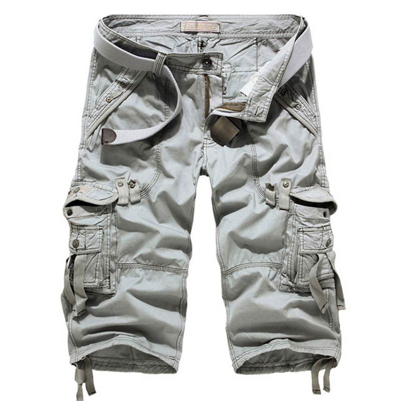 UK STOCK Mens Cotton Summer Army Cargo Combat Work Shorts Pants 3 ...
