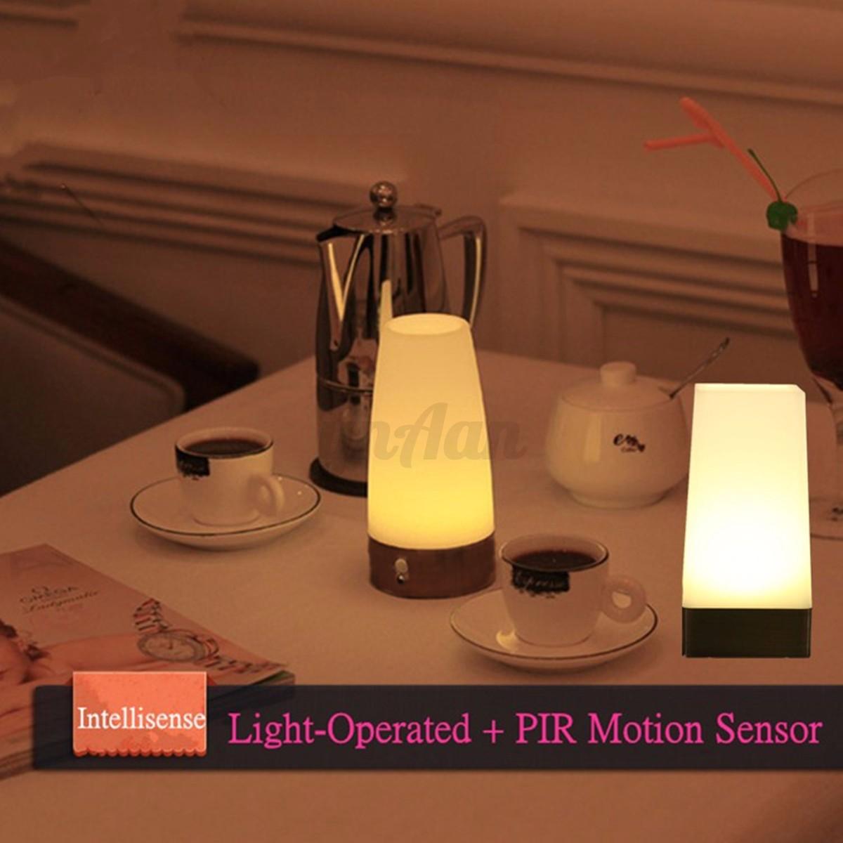 wireless indoor led night light table bed lamp motion. Black Bedroom Furniture Sets. Home Design Ideas
