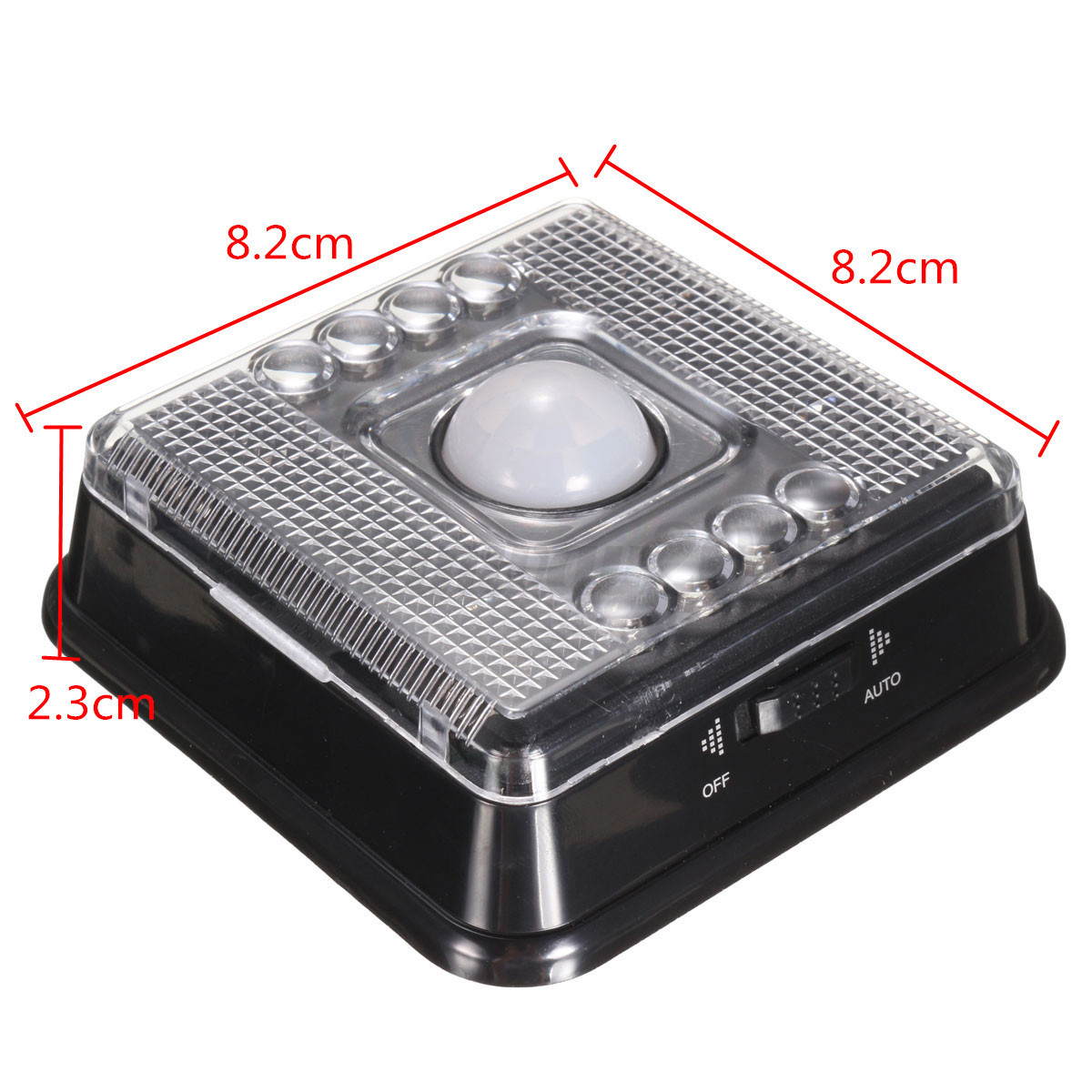 8 led automatic pir motion sensor stair hall night light. Black Bedroom Furniture Sets. Home Design Ideas