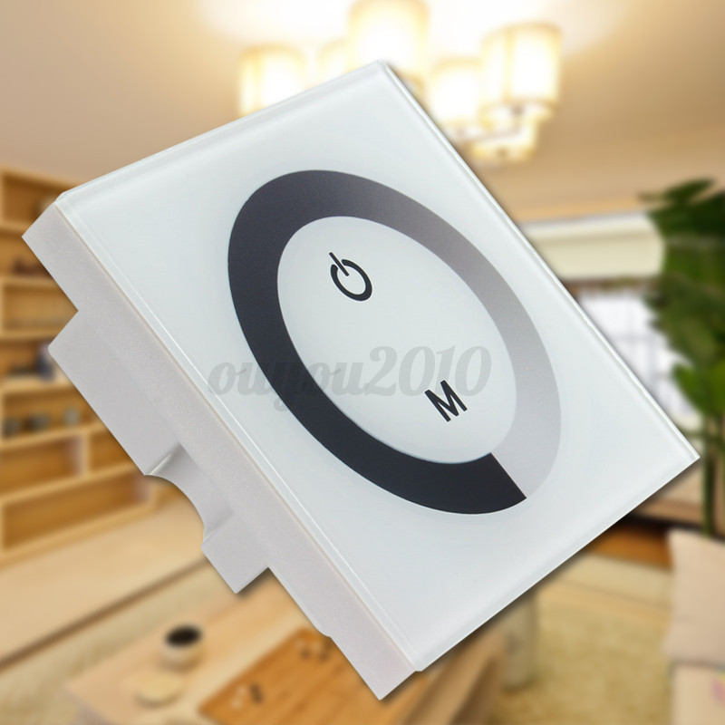 Retaining Wall Lights Solar : Single Color Touch Panel Dimmer Wall Switch Controller LED Light Strip DC 12-24V eBay
